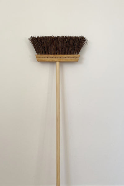 BRISTLE BROOM WITH LONG HANDLE