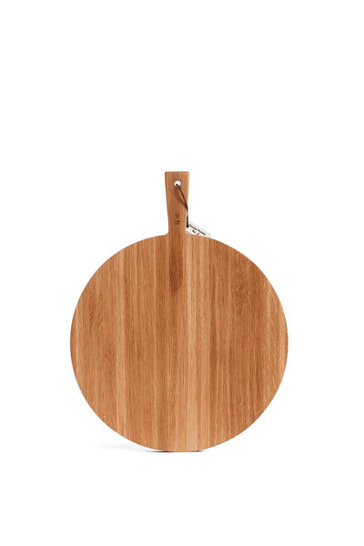 WHITE OAK ROUND SERVING BOARD LARGE