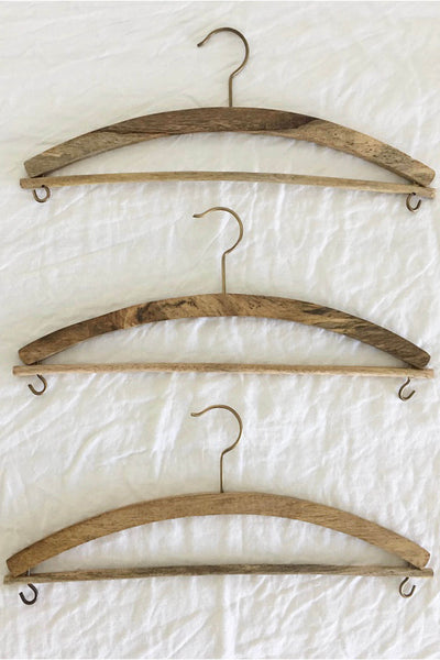 TIMBER SKIRT HANGER -SET OF 3