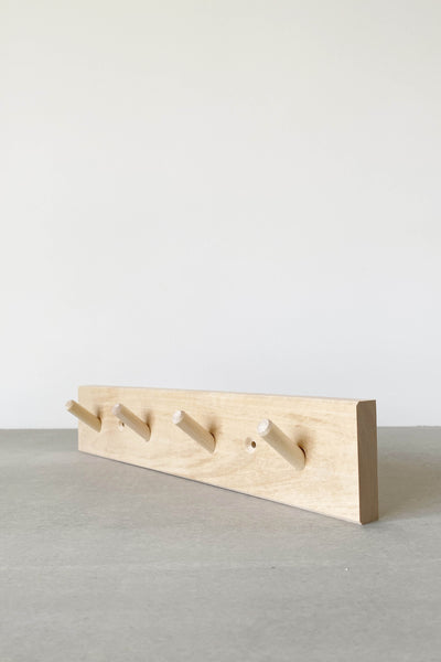 TIMBER COAT HOOK RAIL IN BIRCH - 4 PEG