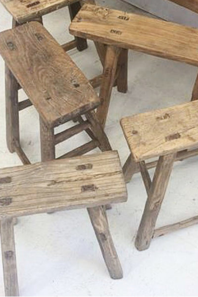 TIMBER ELM RUSTIC STOOL