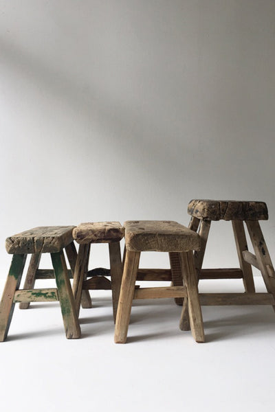 TIMBER ELM MINI RUSTIC STOOL