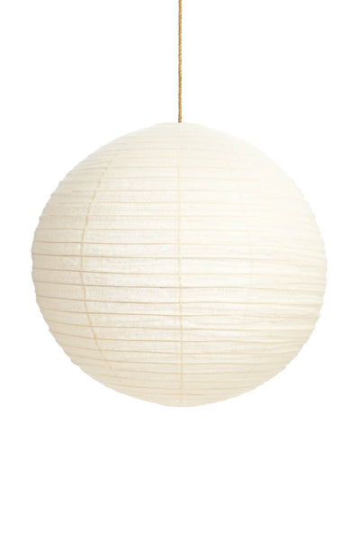 LINEN ROUND PENDANT IN IVORY