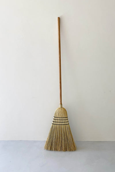 MILLET BROOM WITH TIMBER HANDLE