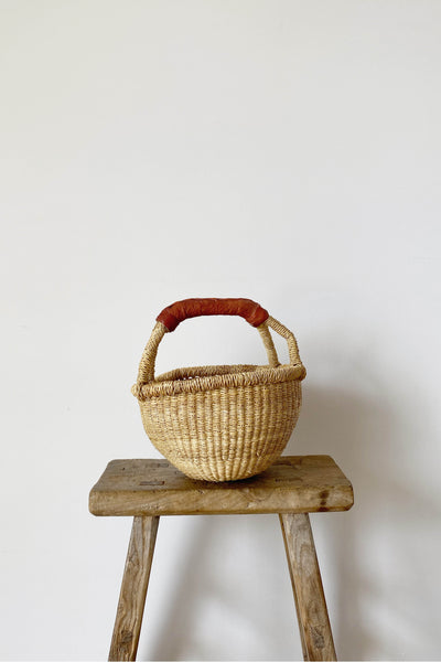 MINI ROUND ELEPHANT GRASS BASKET