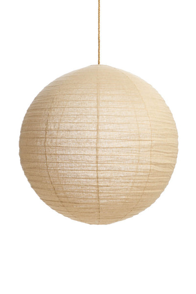 LINEN ROUND PENDANT IN TAUPE