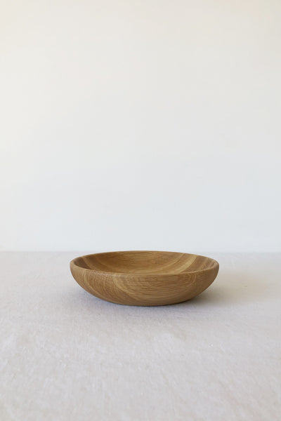 WHITE OAK SHALLOW BOWL