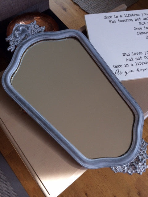 A quick mirror chalk paint upcycle!
