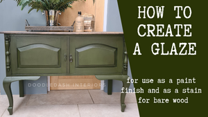 Creating a glaze using Frenchic products