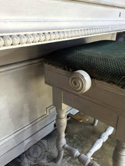 shabby chic chalk paint piano stool