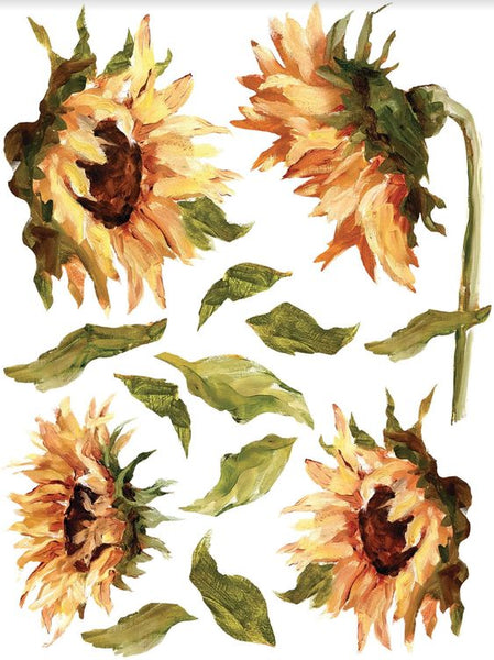 "IOD Decor Transfers: Painterly Florals Decor Transfer Set (pad of 8 12""x16"" sheets)"