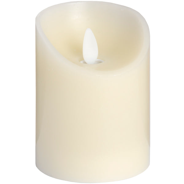 Luxe Collection 3 x 4 Cream Flickering Flame LED Wax Candle - Doodledash