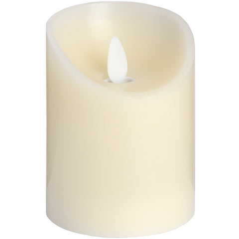 Luxe Collection 3 x 4 Cream Flickering Flame LED Wax Candle