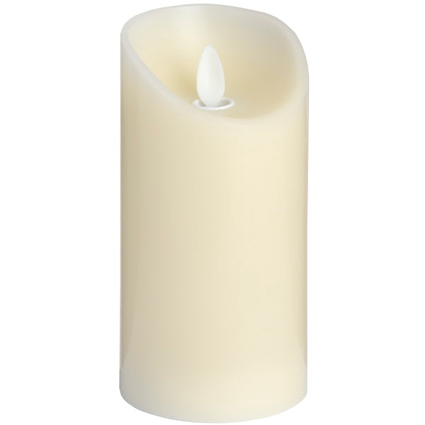 Luxe Collection 3 x 6 Cream Flickering Flame LED Wax Candle - Doodledash