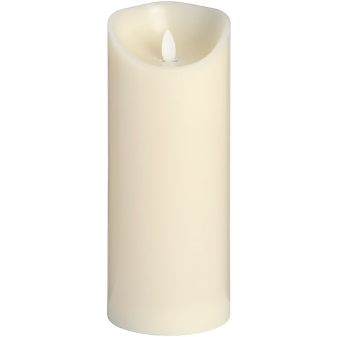 Luxe Collection 3.5 x9 Cream Flickering Flame LED Wax Candle - Doodledash