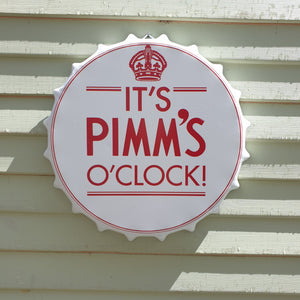 Pimms O'clock Bottle Top Wall Plaque
