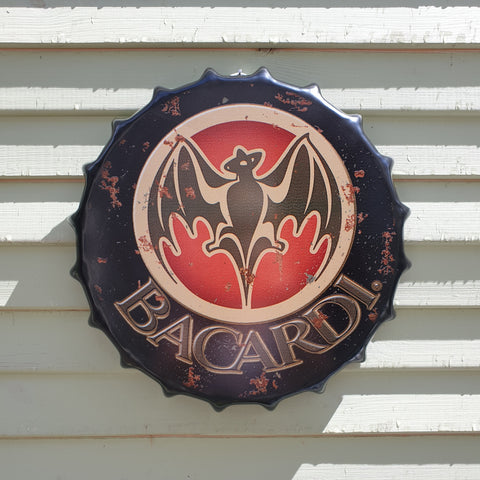 Bacardi Bottle Top Wall Plaque