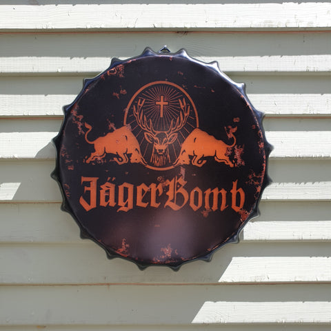 Jagerbomb Bottle Top Wall Plaque