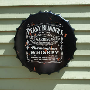 Pecky Blinders Bottle Top Wall Plaque