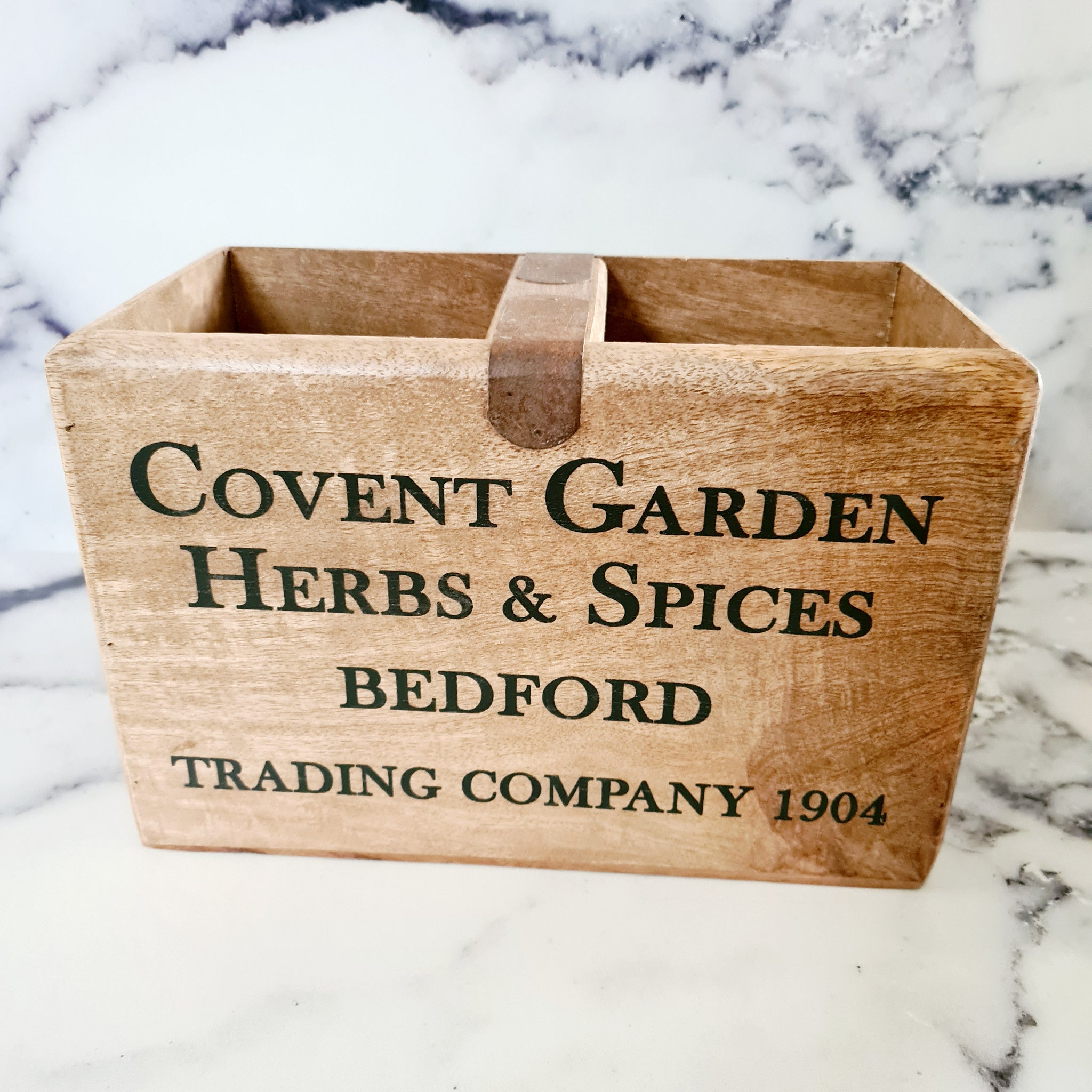 Covent Garden wooden crate
