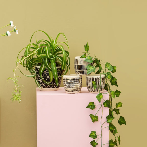 SCANDI BOHO CEMENT PLANTER