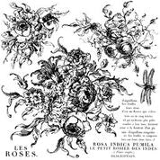 "IOD - Decor Stamps - Rose Toile 12x12"" - Doodledash"