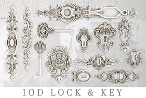 IOD Decor Mould - Lock and Key