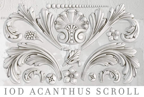 IOD Decor Mould - Acanthus Scroll