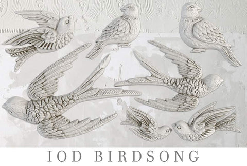 IOD Decor Mould - Birdsong