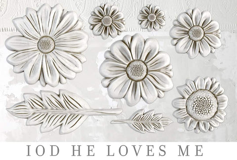 IOD Decor Mould - He Loves Me