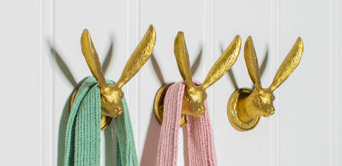 Gold Rabbit Ears Hook