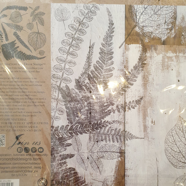 "IOD - Decor Stamps - FRONDS STAMP 12"" X 12"""
