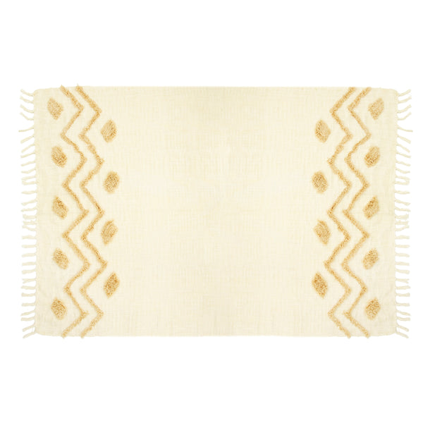 BLANCA TUFTED ZIGZAG THROW