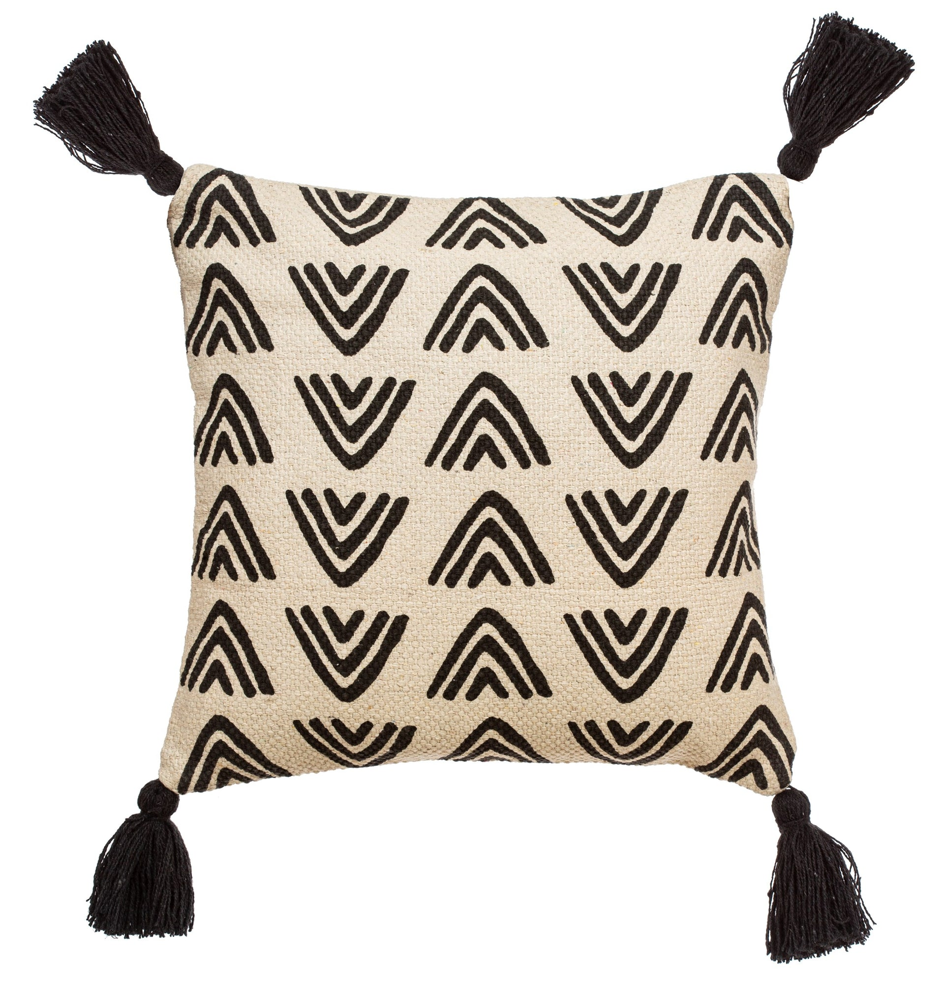 TRIANGLES BLOCK PRINT CUSHION