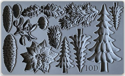IOD Decor Mould - Boughs of Holly
