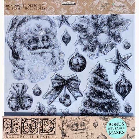 "IOD - Decor Stamps - Holly Jolly Stamp 12""x12"""