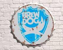 Brew Dog Bottle Top Wall Plaque