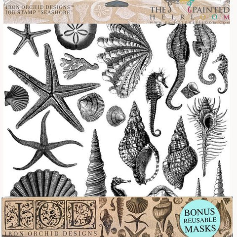 "IOD - Decor Stamps - Seashore Stamp 12""x12"" 2 sheets"