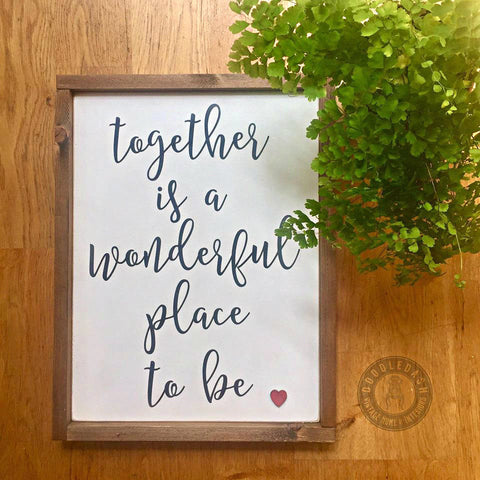 TOGETHER wooden sign (Framed)