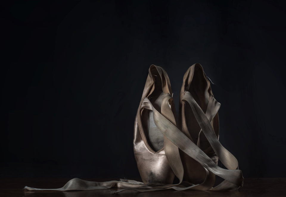 Point shoes, Ballet shoes, Fine art print