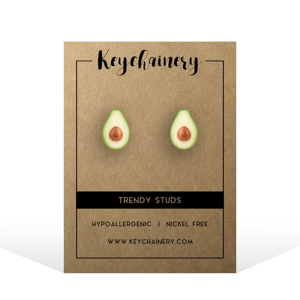 Avocado Stud Earrings - Vegan  Stud Earrings - Fruit  Stud Earrings - Nickel-free  Stud Earrings