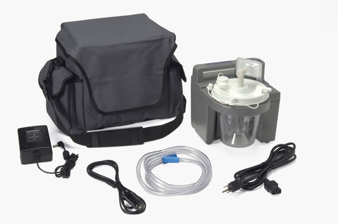 7305 Series Homecare Suction Unit with External Filter, Battery, and Carrying Case