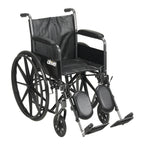 "Viper Plus GT Full Reclining Wheelchair, Detachable Desk Arms, 18"" Seat"