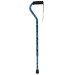 Foam Grip Offset Handle Walking Cane, Swirl