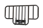 No Gap Half Length Side Bed Rails with Brown Vein Finish, 1 Pair