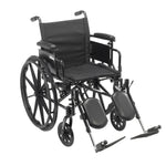 "Cruiser X4 Lightweight Dual Axle Wheelchair with Adjustable Detachable Arms, Desk Arms, Elevating Leg Rests, 18"" Seat"