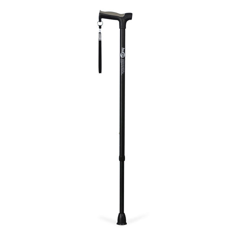 Adjustable Derby Handle Cane with Reflective Strap, Ebony