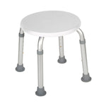 Adjustable Height Bath Stool, White