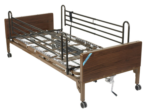 Delta Ultra Light Semi Electric Hospital Bed with Full Rails