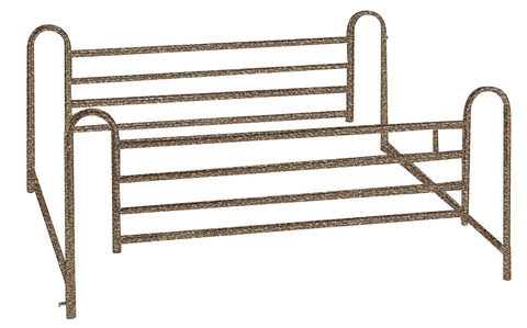 Full Length Hospital Bed Side Rails, 1 Pair